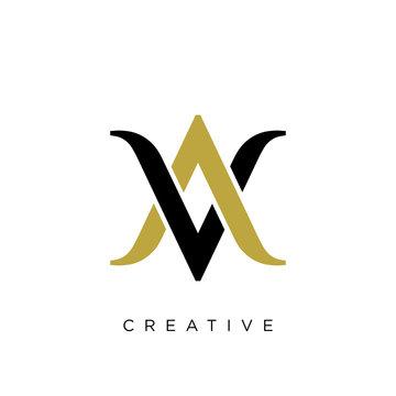 av or va logo design vector