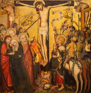 Vienna, Austria. 2019/11/7. Wilten Crucifixion (c. 1435). Belvedere Museum, Vienna, Austria.