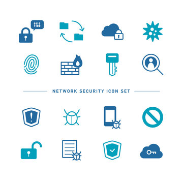 NETWORK SECURITY ICON SET