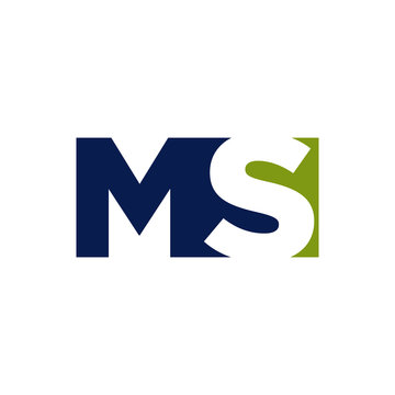 abstract MS logo initial S & M letter graphic concept vector icon template