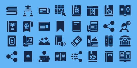 Modern Simple Set of publish Vector filled Icons