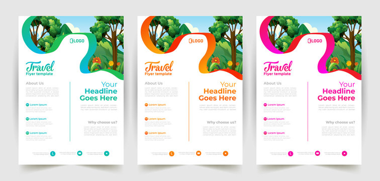 Travel flyer template Design with a4 size