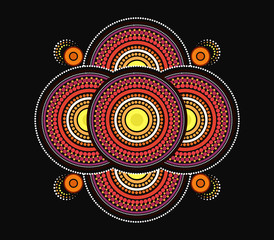Dot art background - Vector Illustration