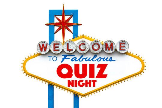 Quiz night on Fabulous Las Vegas sign