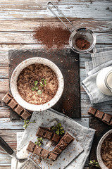 Delicious homemade chocolate pudding