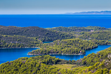 View From Montokuc Viewpoint - Mljet, Croatia