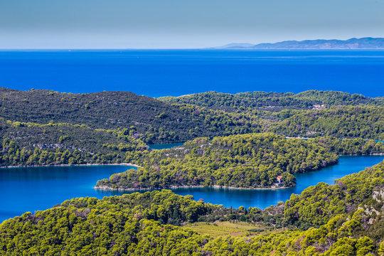 View From Montokuc Viewpoint - Mljet, Croatia