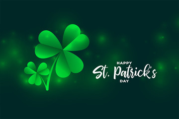 saint patricks day bokeh style background design