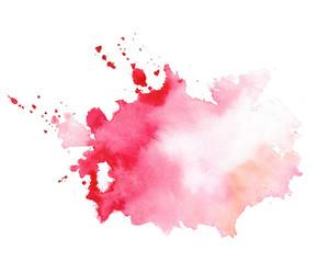Lamas personalizadas con motivos artísticos con tu foto stylish red watercolor splatter texture stain design