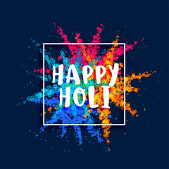 happy holi festival color powder burst background
