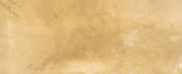 close up retro plain sepia and tan color cement wall   panoramic background texture for show or advertise or promote product and content on display and web design element concept