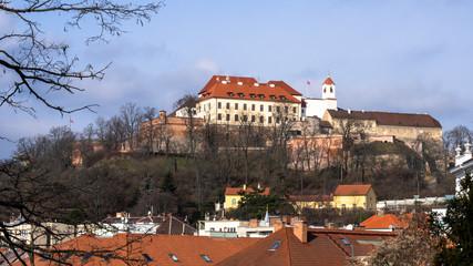 Spilberk Castle in Brno late morning