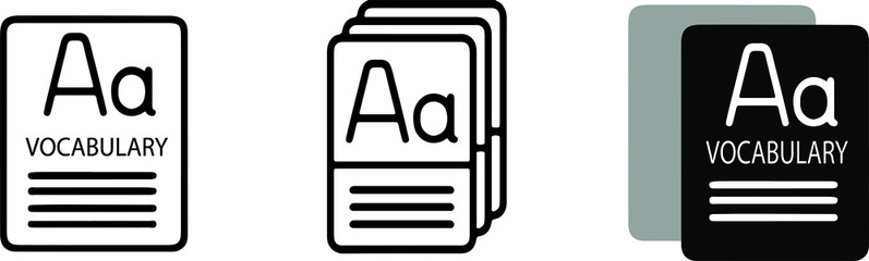 dictionary icon isolated on background