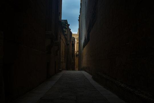 Medieval Roads in Mdina, Malta