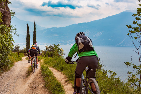 Biking at Garda lake