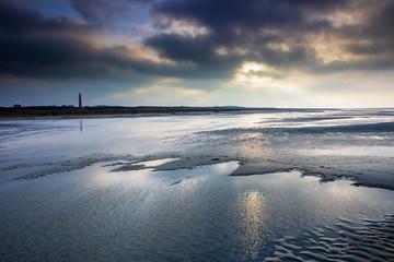 sunshine over North sea beach