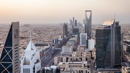 Top view of the city of Riyadh, Saudi Arabia Fotomurales