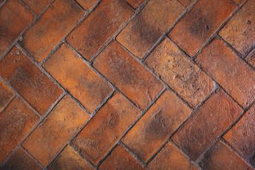 Obraz Sol de carreaux en terre cuite - fototapety do salonu