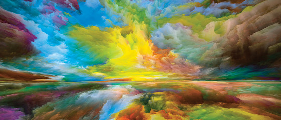 Wall Murals Yellow Heaven and Earth Background