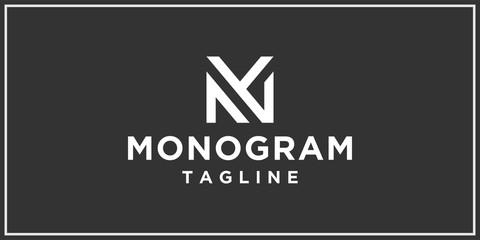 Fototapeta mg or fg monogram logo design template obraz