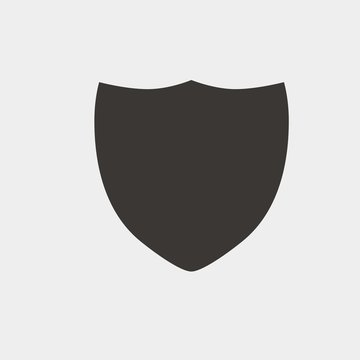 sheild icon vector illustration and symbol for website and graphic design