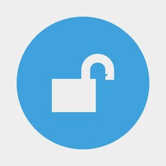 unlock icon vector illustration and symbol for website and graphic design