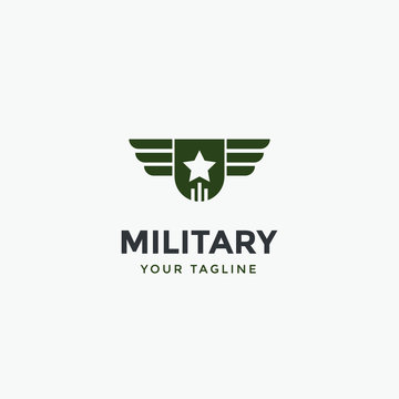 army military logo design template