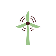 windmill energy environmental isolated icon
