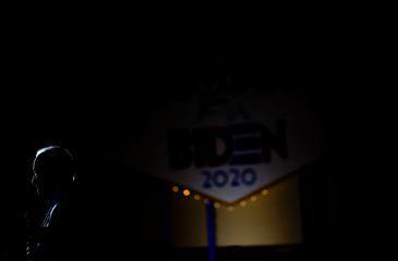 Democratic 2020 U.S. presidential candidate and former U.S. vice president Joe Biden attends a campaign event in North Las Vegas