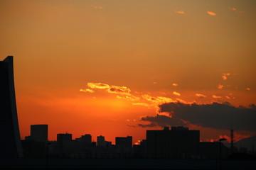 夕暮れの風景 Fototapete