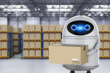 Android robot warehouse