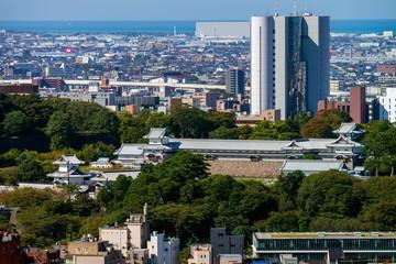 卯辰山から望む金沢市街