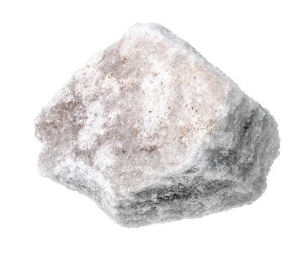 rough marble rock cutout on white