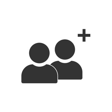 vector icon of add friend contact