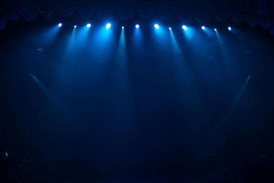 rays of light illuminate the scene