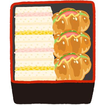 重箱のお弁当 サンドイッチ