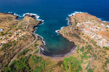 Coconut and sugar canne plantation near Calheta Sao Miguel in Santiago Island  in Cape Verde - Cabo Verde