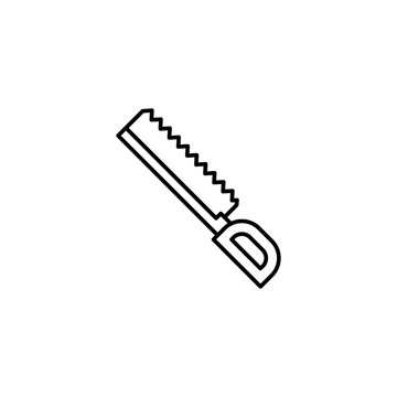 Blade cutting surgical saw icon. Simple line, outline vector elements of traumatology icons for ui and ux, website or mobile application
