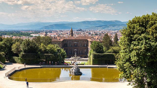 Views of the Firenze skyline from the Boboli Gardens