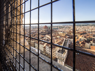 Views of the Basilica di San Lorenzo and the city of Firenze