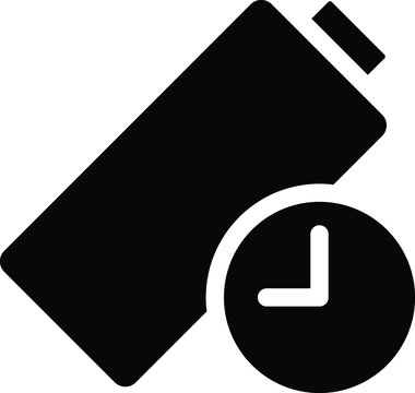 Long Battery Life Icon, vector illustration