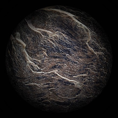 Arbitrary lifeless planet on a black background
