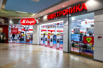 M-Video store is the largest Russian consumer electronic retail chain
