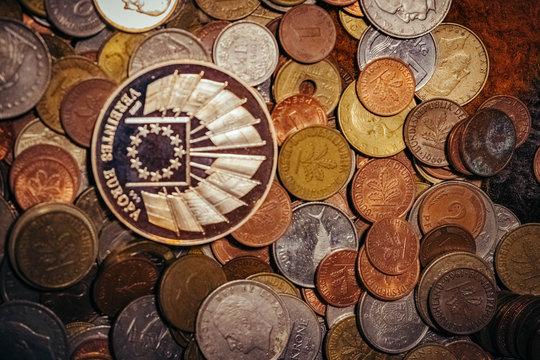 Geld und Münzen Fotos