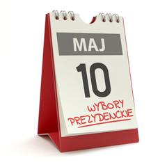 Obraz Wybory prezydenckie - kalendarz 10 maja, ilustracja 3D - fototapety do salonu