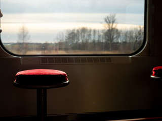 Photo sur Toile Europe de l Est chair on a train in Eastern Europe