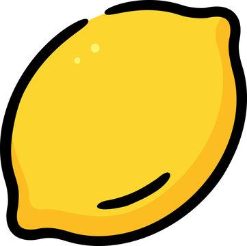 Lemon Fruit Doodle Sketch Icon