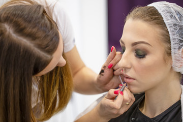Young girl in a beauty salon