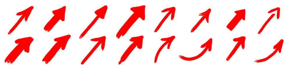 red grunge arrow.red grunge arrow vector. red grunge arrow brush.red grunge arrow paint Fototapete
