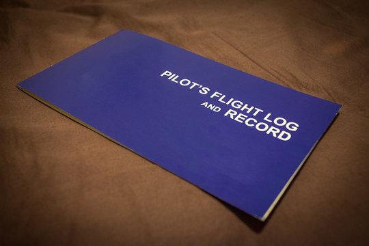 Pilot flight logbook for training becoming pilot
